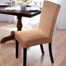 Slipcover Dining Chairs Velvet Damask Stretch Chair Slipcovers Room Without Arms