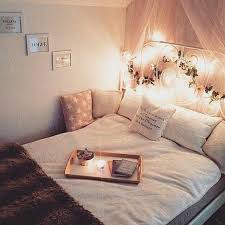Cozy Bed With Christmas Lights