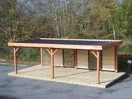 bac a avec toit auvent ombra avec ventelles mobiles sur 1 côté toit plat