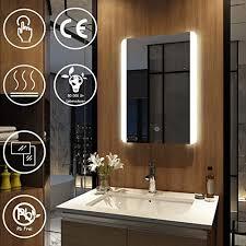 badezimmerspiegel led spiegel mit touch anti beschlag