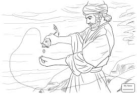 Coloring Pages Coin In The Fish S Mouth Christianity Bible