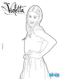 Violetta Side Pose Coloring Page