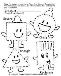 Shapes Colors Printable Worksheet