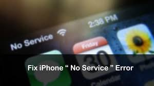 iPhone says No Service How to Fix No Service on iPhone Error Issue