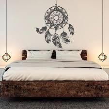 dreamcatcher aufkleber traumfänger wandaufkleber feder wandtattoo boho bohemian schlafzimmer decor poster wandkunst aufkleber wandbild jw065