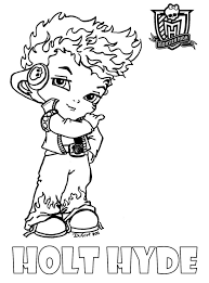 Monster High Baby Holt Hyde Coloring Pages