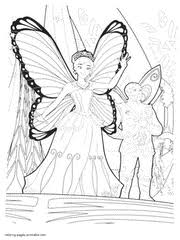 Barbie Mariposa And The Fairy Princess Coloring Pages That You Can Print 1