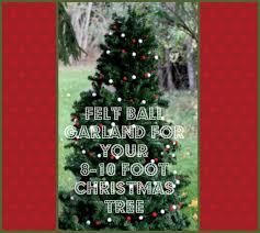 Felt Ball Garland Christmas Tree Garlands To Cover 8 10 FOOT