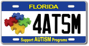 Florida Autism License Plate – Drive Support for Autism Services