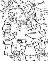 Birthday Party Coloring Pages Free Funny Page Theme