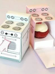 Housewarming Party Favor Ideas Cupcake Oven Cupcakes Are Always A Good Idea But Even Better In This Shaped Paper Box Write Personal Note On The