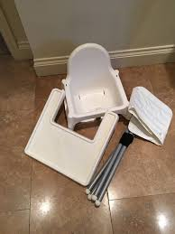 White Ikea Antilop High Chair With Tray And Inflatable Cushion ...