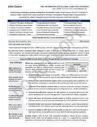Page 1 CIO Resume Sample Executive Technology