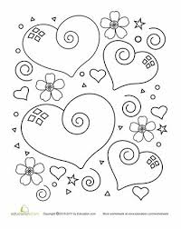 Heart Coloring Page Free PagesColoring SheetsFlower