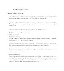 Marketing Plan Executive Summary Template Short Business Free Templates Real Estate