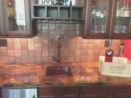 Copper Tiles For Backsplash by Backsplash Copper Tiles Backsplash Home Design Great Fancy To