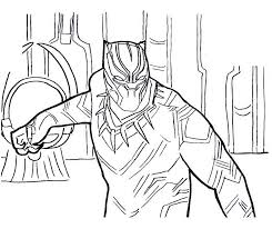 Black Panther Civil War Coloring Pages To Print For Kids Pictures