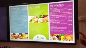 cuisine tv menut digital menu boards updated excel at ife13