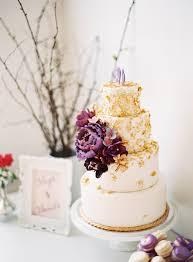 Gold Purple Wedding Cake