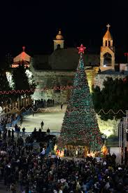 Bethlehem Lights Christmas Trees Troubleshooting by View Of Manger Square In Bethlehem On Christmas Eve The Catholic Sun