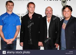 Matt Stone Trey Parker And Show Writing Team The Book Of Mormon Opening Night Held At Pantages Theatre