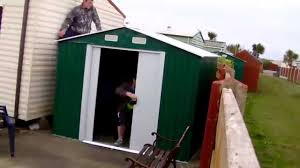 6x5 Shed Double Door by How To Build Yardmaster Metal Apex Shiplap Shed 8 X 6ft Youtube