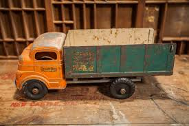 Vintage Structo Toys Package Delivery Service Truck Green Orange ... 1950s Structo Hydraulic Toy Dump Truck Vintage Nice Yellow Toy Truckgreen Trailer Yellow Steam Shovel Farms Cattle Hauler Steel Trailer Light 992 Vintage Grnuploweredga Structo Toys Freight Hauler Truck Fire Engine Ardiafm Hap Moore Antiques Auctions Lot Of 2 Machinery Steam Shovel Pressed Steel Hydraulic Dumper 401 Red Cab Yellow Toys R Us Pressed
