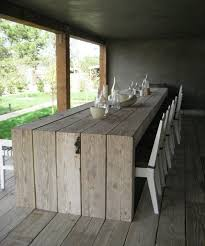 Alluring DIY Outdoor Table 25 Best Ideas About Diy On Pinterest Deck