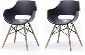 robas lund esszimmerstuhl 4er set schwarz küchenstuhl