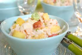 cuisine salade de riz recette salade de riz au crabe et ananas cuisinez salade de riz