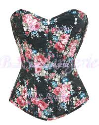 black red floral denim overbust corset 2767k 17 99 cheap