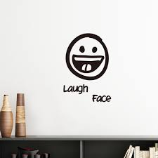 Emoji Expressionless Playful Frown Laugh Face Cry Removable Wall Sticker Art Decals Mural DIY Windows Wallpaper Room Decal 60cm In Stickers From Home
