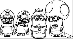 Magnificent Minion Printable Coloring Pages With Free And Christmas