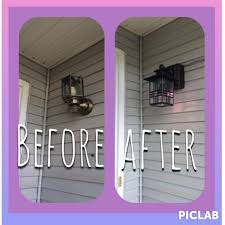 exterior wall light with built in electrical outlet and new 44 on