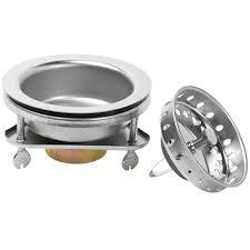 glacier bay ez lock sink strainer in stainless steel 7045 104ss