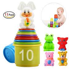 Amazon Com 4 Piece Baby by Amazon Com Stacking U0026 Nesting Toys Toys U0026 Games