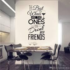 großhandel küche zitate wandtattoo die besten weine mit freunden vinyl wandaufkleber esszimmer küche wandkunst wandhauptdekor qwonly shop