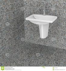 badezimmer mit steinfliesen stock abbildung illustration