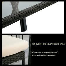 Black 7 Piece Modular Rattan Corner Sofa From Abreo Mortero Monocapa Raspado Leroy Merlin