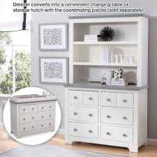 Baby Changing Dresser With Hutch by Delta Children Providence 6 Drawer Dresser White And Textured