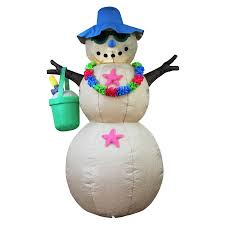 Holiday Living 6ft X 4ft Lighted Snowman Christmas Inflatable At