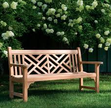 garden bench traditional wooden with backrest chippendale