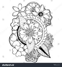 Coloring Book Flowers Stock Vector 710759812