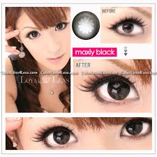 Cheap Prescription Halloween Contacts Canada by Maxiy Black Contact Lens Pair Wx Black 24 99 Colored