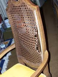 Broken Cane Back Chair I Have Some Dining Room Chairs