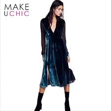 compare prices on long dress velvet blue online shopping buy low