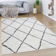 teppich wohnzimmer muster skandinavisch modern