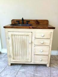 Vanities Rustic Bathroom Vanity Copper Sink Bronze French Country Lighting Pine