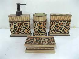 Leopard Print Bathroom Set Uk by Cheetah Print Bathroom Accessoriescheetah Print Bathroom