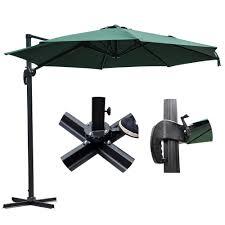 Patio Umbrella Offset 10 Hanging Umbrella by 10 U0027 Deluxe Patio Hanging Roma Offset Umbrella Outdoor Cantilever